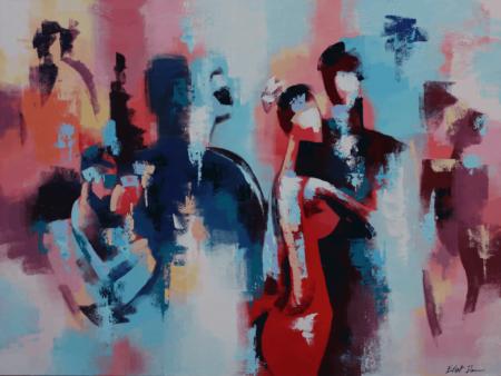 רקדנים צבעוניים